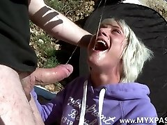 fellatio, slapping and ass fucking pounding on the beach
