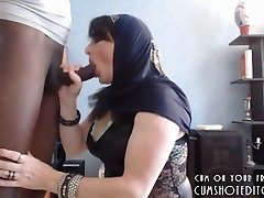 Underdanig Arabiske Kone Behagelig Hennes Ektemann