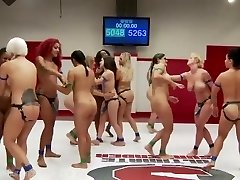 Ultimate Lezzie Wrestling Group Sex