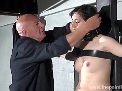 Gagged slave Honesty Cabelleros softcore domination and nip