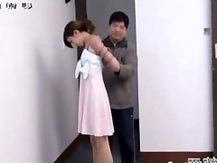 Japanese girl in restrain bondage