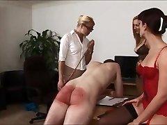 Three ladys Whipping Man!!