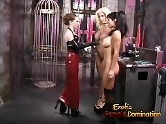 Three smoking hot playgirls have some nasty fun in the dunge