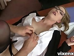 Bad secretary punished with spanking and anal fuckfest