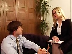 Posh Office Mistress has intercourse with her gimp