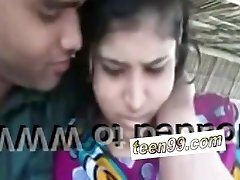 Indian village female kissing bf in outdoor scandal - teen99*com