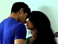Indian cute step-brother sister romentic smooch - teen99