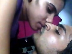 Indian damsel hot and horny kiss to her bf