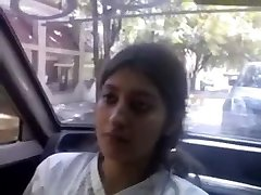 Indian Glamorous cute Excellent baby breast feed and give oral-job to beau in camper