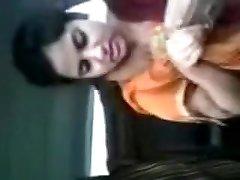Beautiful Tamil School Girl In Car