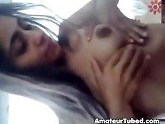 Slim hairy indian girl films herself stripping n tease