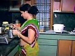 Indian Housewife Enticed Boy Neighbour uncle in Kitchen (Low)