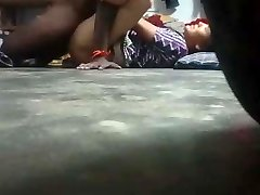 Indian housewife pummel with neighbor