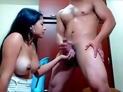 Desi cute longhair collage girl hump with bf on webcam
