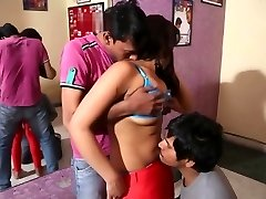 Desi dance college girl exploited by Two guys