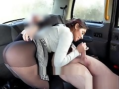 Fake Taxi British babe Sahara Knite gives great fellate on backseat