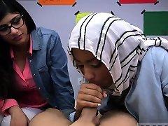 عربی, مترجم, ضربه فیلم های پورنو کار Lescomrade دختران با میا خلیفه
