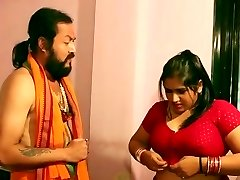 Swamiji enjoying with nice-looking Bhabhi