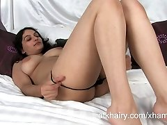 Super unshaved Indian girl Rani masturbates