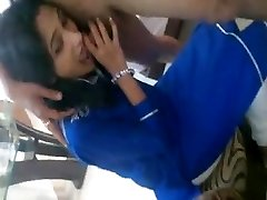 Indian Blue Dress Blowjob her Beau