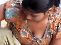 Indian Maid Downblouse While Washing
