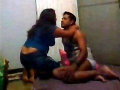 Desi Indian Wife Three sum with Spouse and His