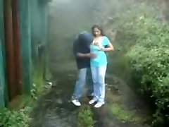 British Indian couple ravage in rain storm at hill station