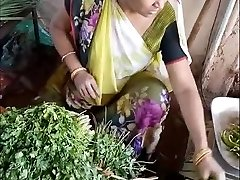 Sexy Indian Vegetable Vendor Spy