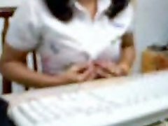 indian lady in office cam