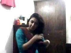Seksualus Bengalų mergina Shalwar ne Masturbacija