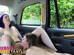 FemaleFakeTaxi Goth nymph tastes drivers pussy