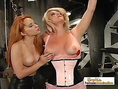 Sizzling Gimp Tortured By Her Topless Mistress