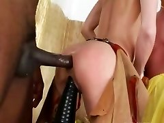 Violent analhole threesome with cowboy