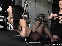 Restrained restrain bondage stunner Elise Graves lesbian