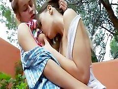 Romantic lesbian adventure from france