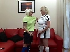 Hard lesbo lesson from her old coach