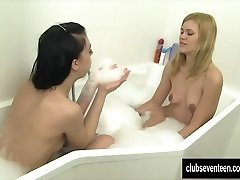 Lesbian teens jerking in tub tub