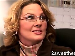 Big stacked mature secretary trains her new hawt fella