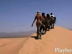 Large rack babes attempts out sand boarding