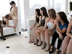 Lesbo Orgy  in Head Mistress In Charge - TeamSkeet