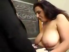 plus-size girl-girl teacher and pupil