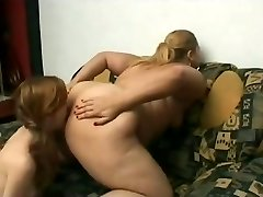 Slut Fat BBW Lesbians love licking moist shaven muff juice-4