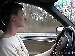 Girlfriends Cute ladies investigate lesbian fantasy on road trip