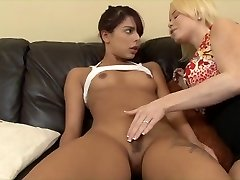 A Youthfull Brunette Seduced by a milf.
