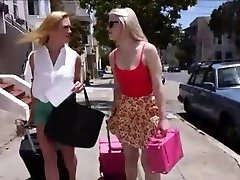 Smoking Hot Lezzie Couple Ruins Young Dame's Vacation