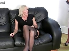 Mature lesbian couple in hot act