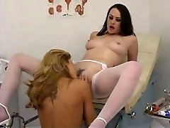 Girl-girl nurse tongues pussy part 2