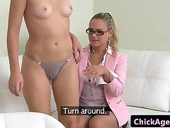 Girly-girl agent fellatio pleasures by czech babe