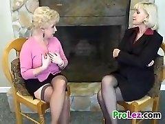 Platinum-blonde Lesbian Grandmas