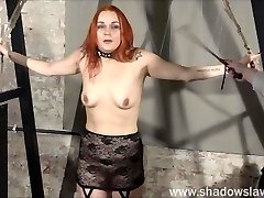 Redhead play piercing slave Marys lesbian bdsm and syringe punishment of amateur masochist in harsh dungeon slavery